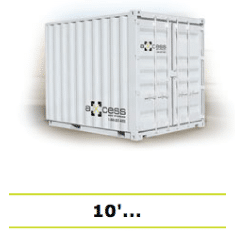 Shipping container storage box 10 white