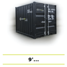 Shipping containers storage box 9 black
