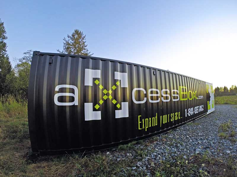 Black Axcess Box Shipping containers storage