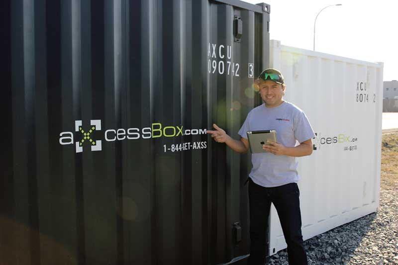 Axcess box Shipping container rent buy