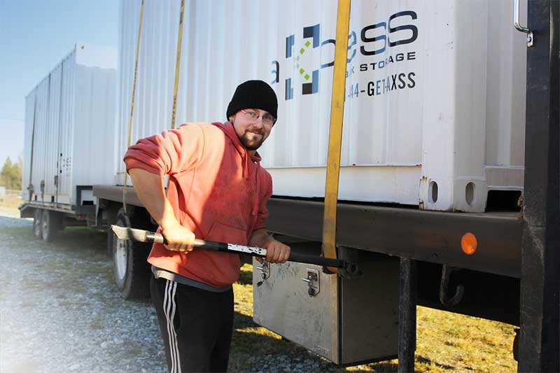 Working truck Axcess Box Shipping container