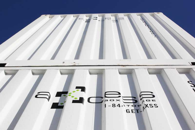 two shipping containers white Axcess Box