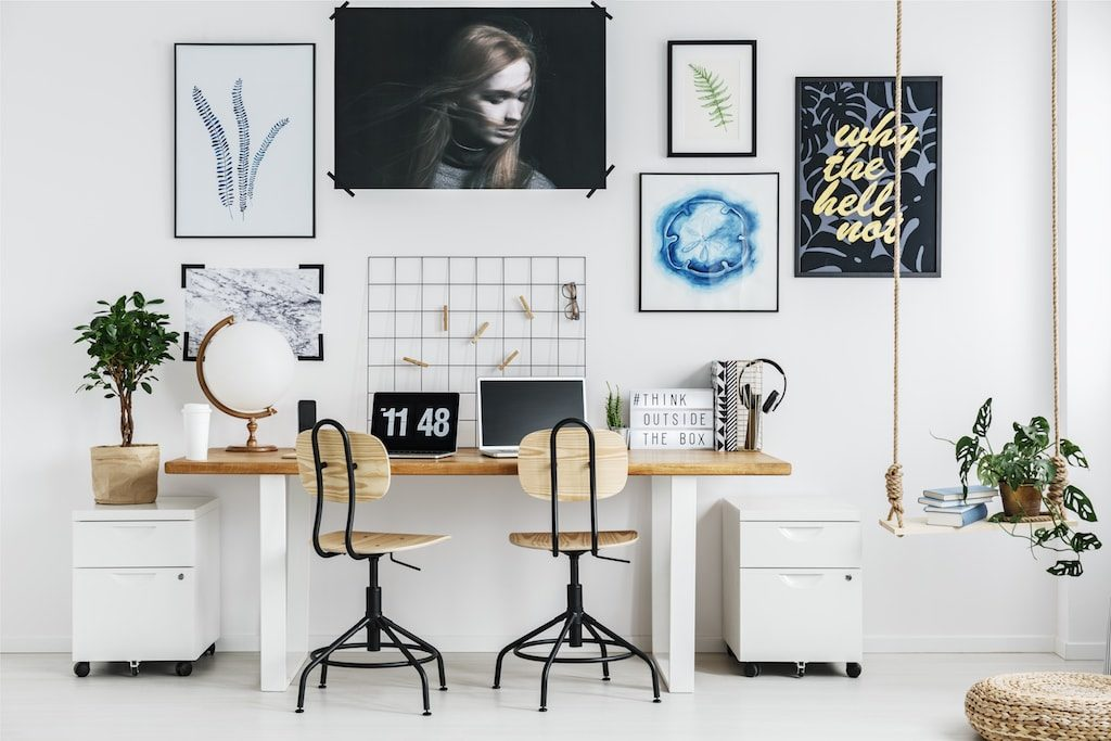 Modern Office with chairs