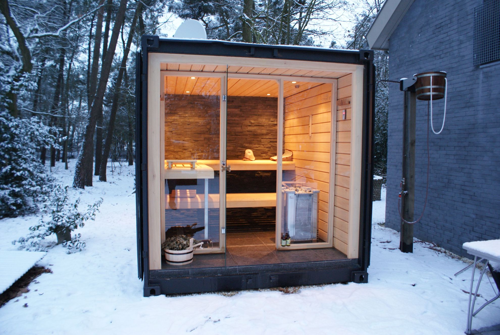Steel Containers sauna