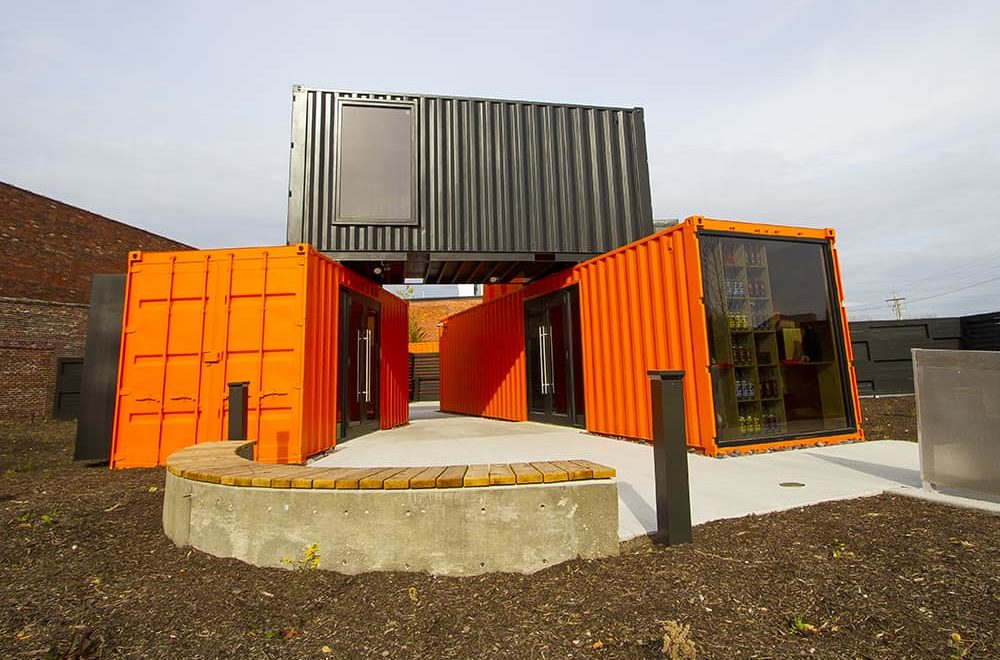 shipping containers are good for offices, studios, pools
