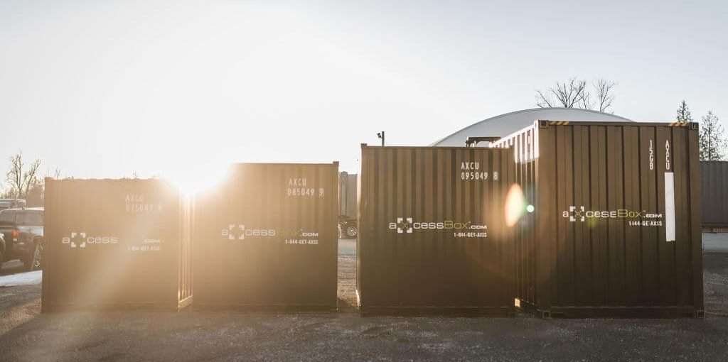 Axcess box storage outdoor shipping containers