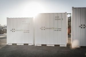 Axcess box storage sizes shipping containers
