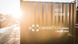 Axcess box storage used bc shipping containers