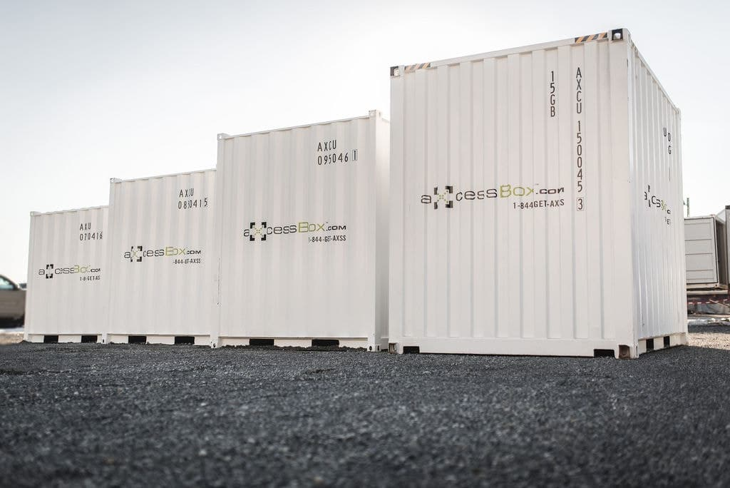 rent shipping container Axcess box storage