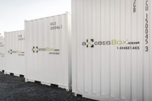 storage container quote Axcess box mobile
